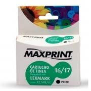 CARTUCHO MAXPRINT COMP LEXMARK N° 16/17