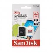 CARTAO DE MEMORIA 64GB MICROSDXC ULTRA SANDISK
