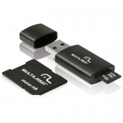 KIT 3 EM 1 PEN DRIVE/MICRO SD/CARTAO 16GB MC112 MULTILASER