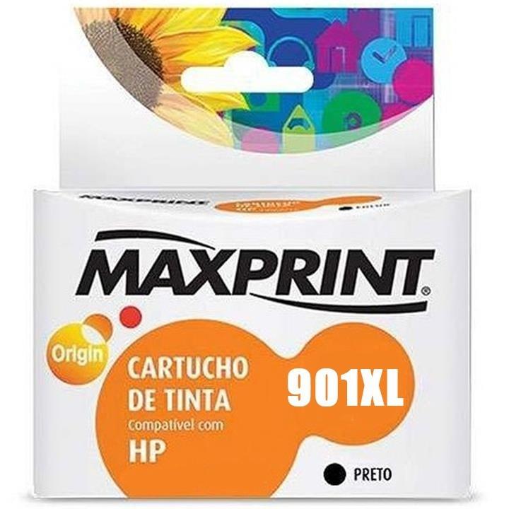 CARTUCHO COMP. HP CC654AL 901XL PRETO MAXPRINT