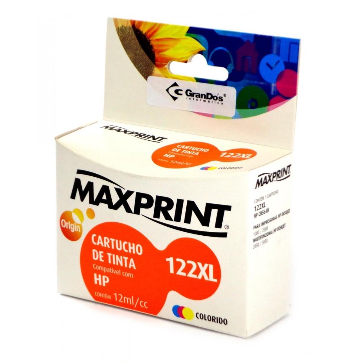 CARTUCHO COMP. HP CH564H 122XL COLOR MAXPRINT
