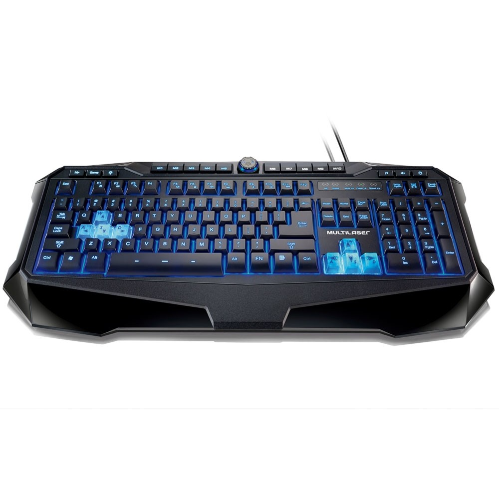 TECLADO WARRIOR GAMER COM LED USB TC167 MULTILASER