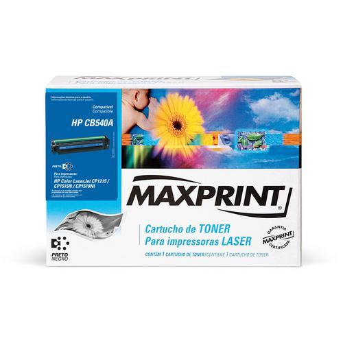 TONER 125A PRETO CB540A - 56976-3 MAXPRINT