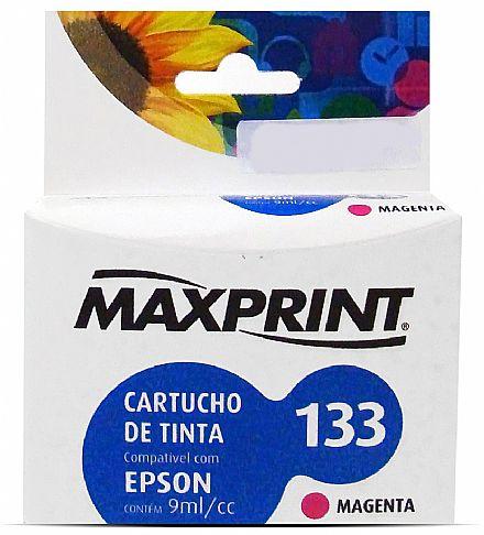 CARTUCHO 133 MAGENTA COMP EPSON T133320 611113-3 MAXPRINT