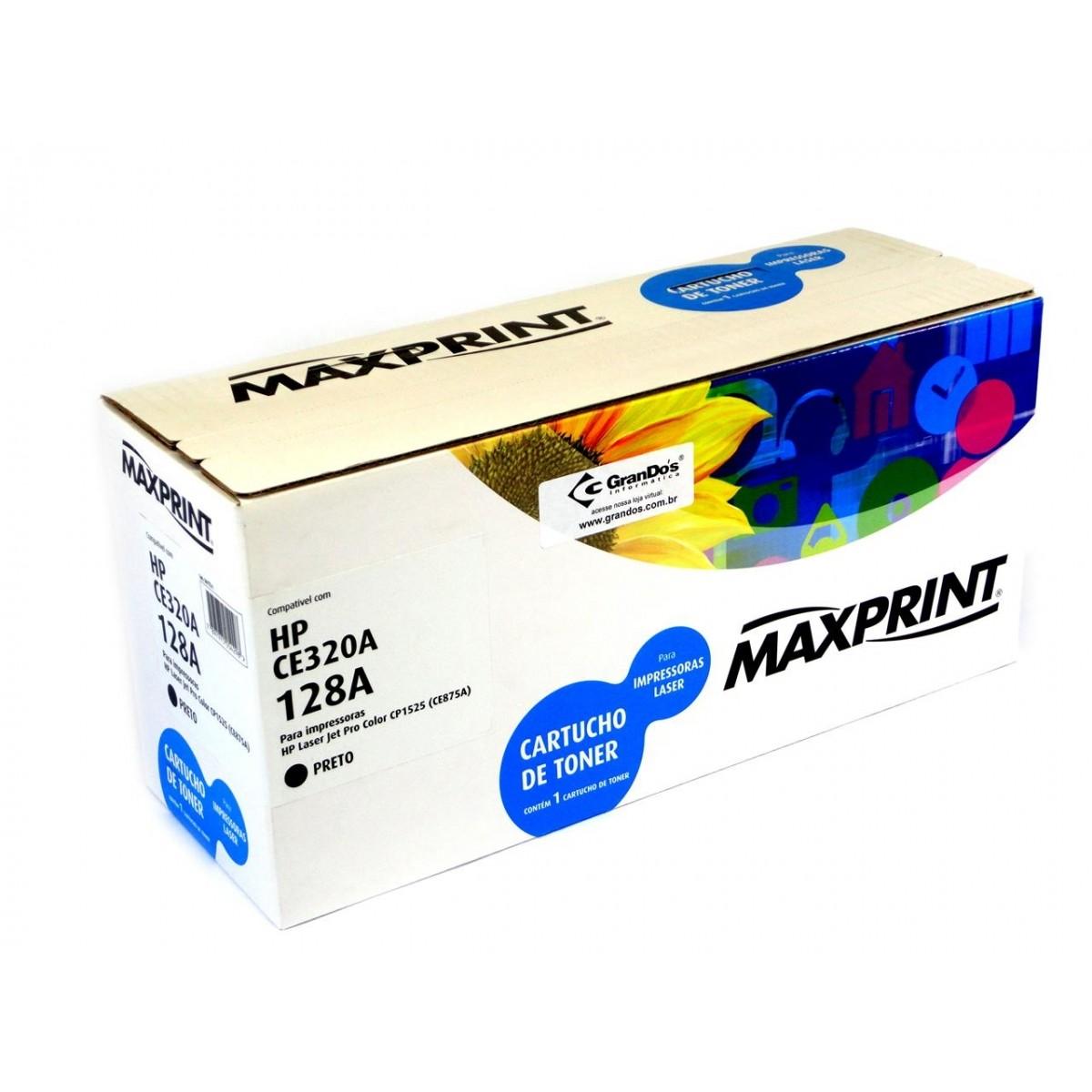 TONER CE320A PRETO 128A MAXPRINT