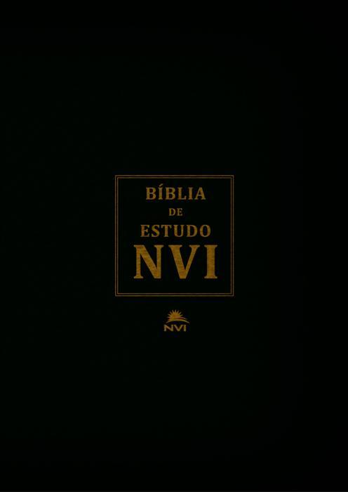 Bíblia de Estudo NVI - Preta C/ Índice - PROMESSAS PRECIOSAS