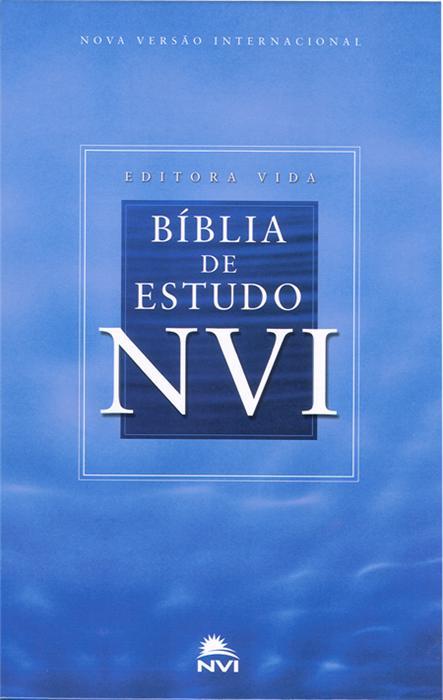 Bíblia NVI de Estudo Capa Dura Azul Celeste - PROMESSAS PRECIOSAS