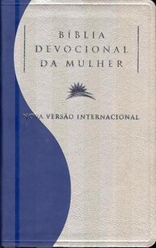 Biblia Devocional da Mulher NVI - Capa Azul / Pérola - PROMESSAS PRECIOSAS