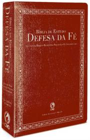 Bíblia de Estudo  Defesa  da  Fé - Vinho - PROMESSAS PRECIOSAS
