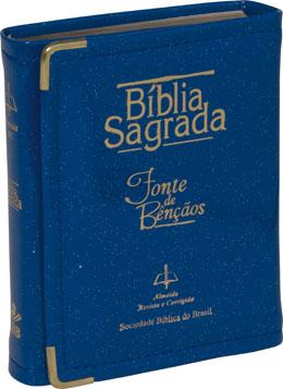 Bíblia Sagrada Fonte de Bençãos - Azul - PROMESSAS PRECIOSAS