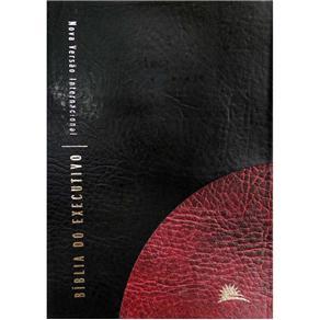 Bíblia NVI do Executivo Luxo Grande Preta e Vinho - PROMESSAS PRECIOSAS