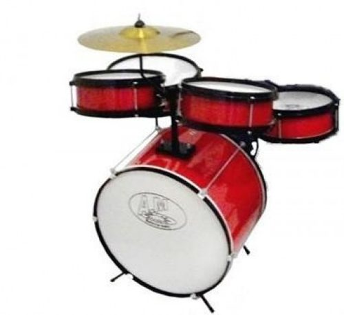 Bateria Rock Baby AM Vermelha - Musical Perin