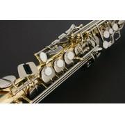 Sax Soprano Eagle Laqueado com Chaves Niqueladas SP 502 LN - Musical Perin