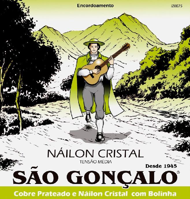 Encordoamento São Gonçalo Nylon Cristal Violão - Musical Perin