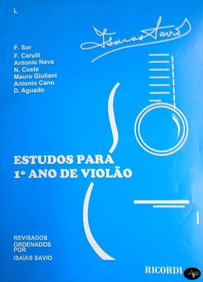 Método Estudos para 1º Ano de Violão Isaías Savio - Musical Perin