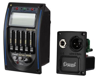 Equalizador Deval 4 Bandas c/ Afinador e Microfone - Musical Perin