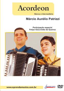 DVD Acordeon Básico e Intermediário - Musical Perin
