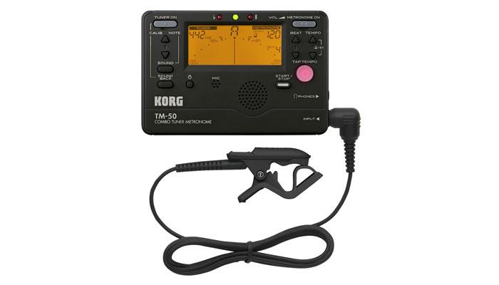 Metrônomo com Afinador Korg TM 50C BK - Musical Perin