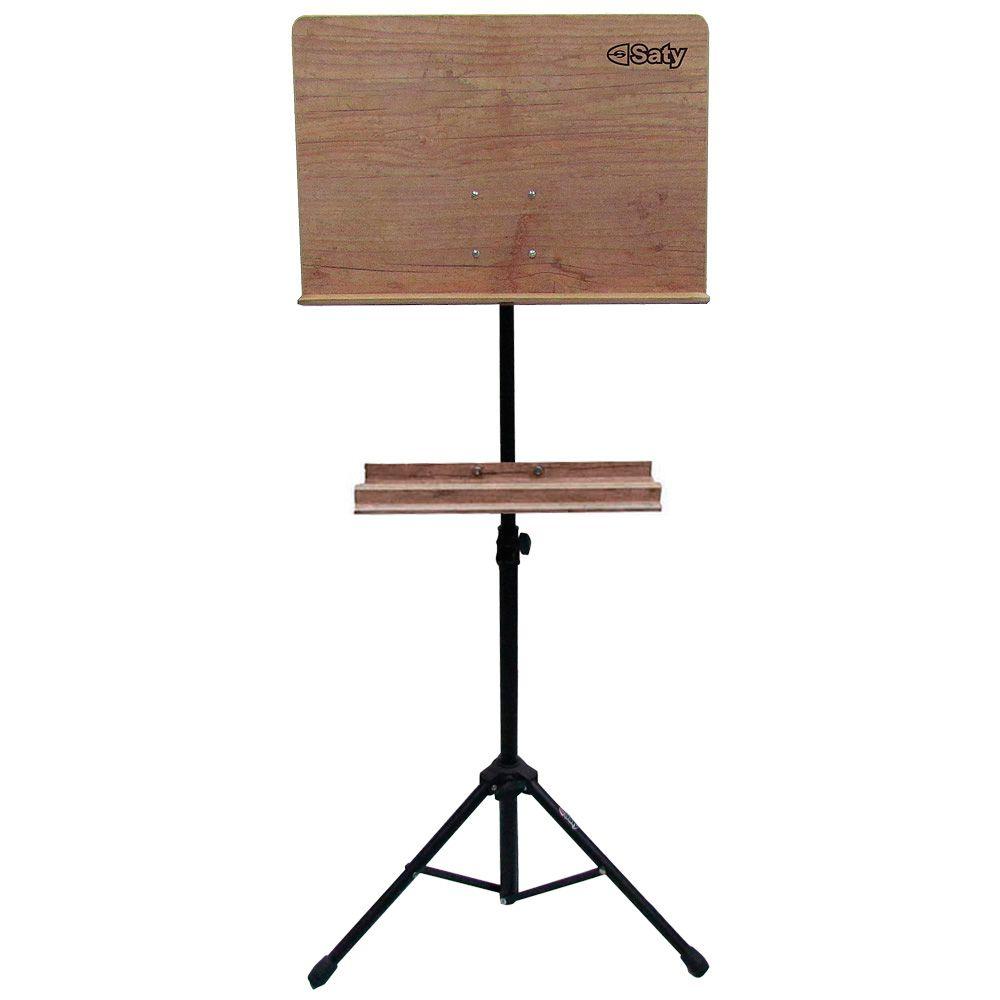 Estante Partitura Saty Maestro em madeira c/ Suporte 5036M - Musical Perin