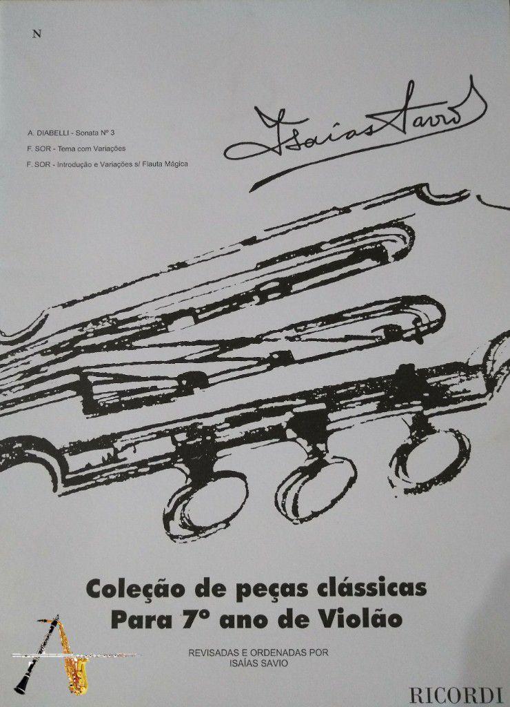 Método Coleção de Peças Clássicas para o 7º ano de Violão - Musical Perin