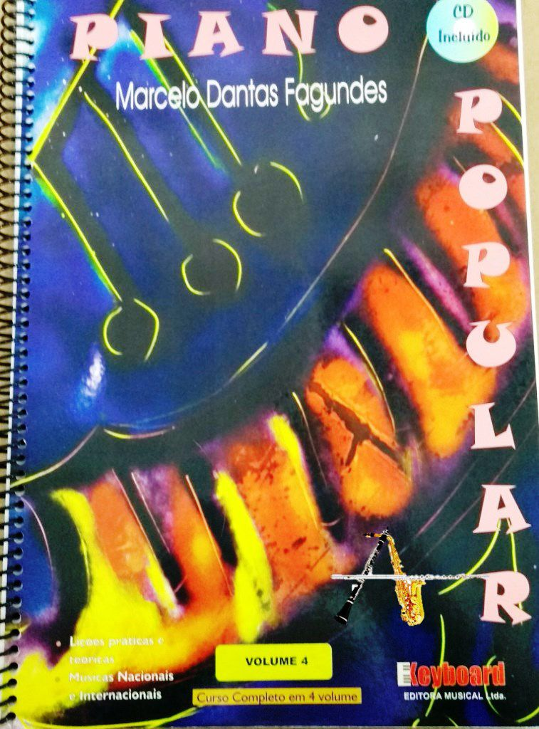 Método Piano Popular Marcelo Dantas Com CD Vol. 4 - Musical Perin