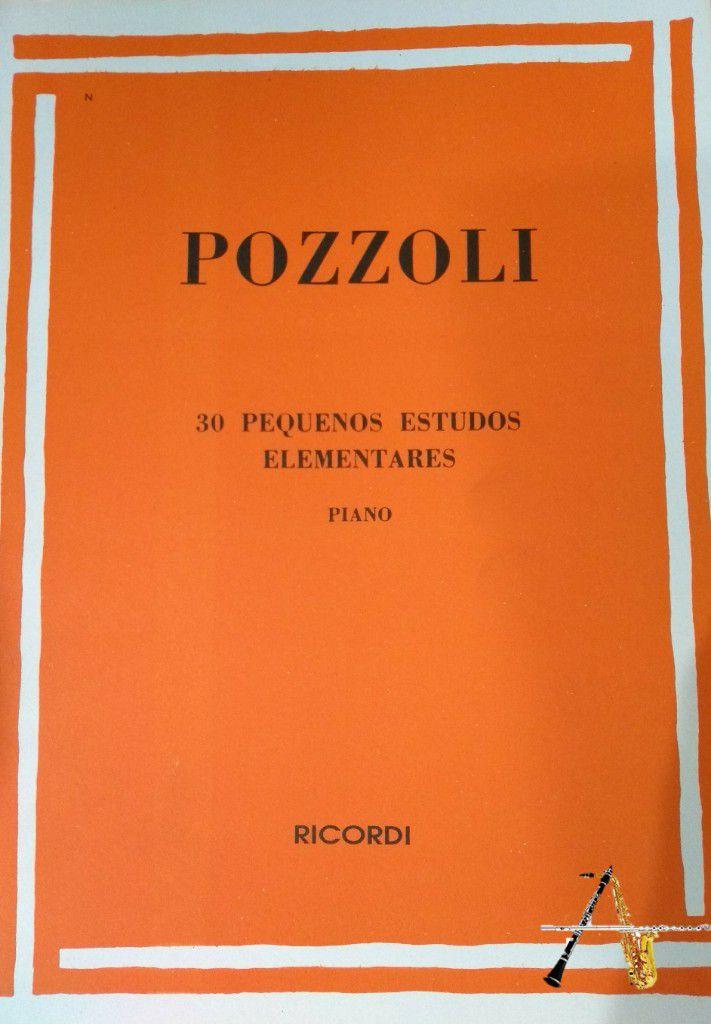Método Pozzoli 30 pequenos Estudos Elementares - Piano - Musical Perin