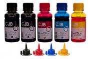Kit de tintas para impressoras Epson L355 L365 L375 L395 (5x100ml)