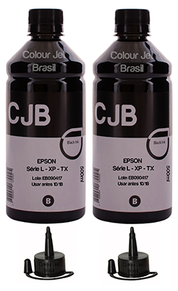 Kit Refil de Tinta Ecotank BLACK Série L XP TX (2x500ml)