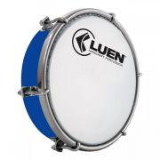 Tamborim Azul 06 Luen, com chave de afinação. Tamborim para samba e outros.