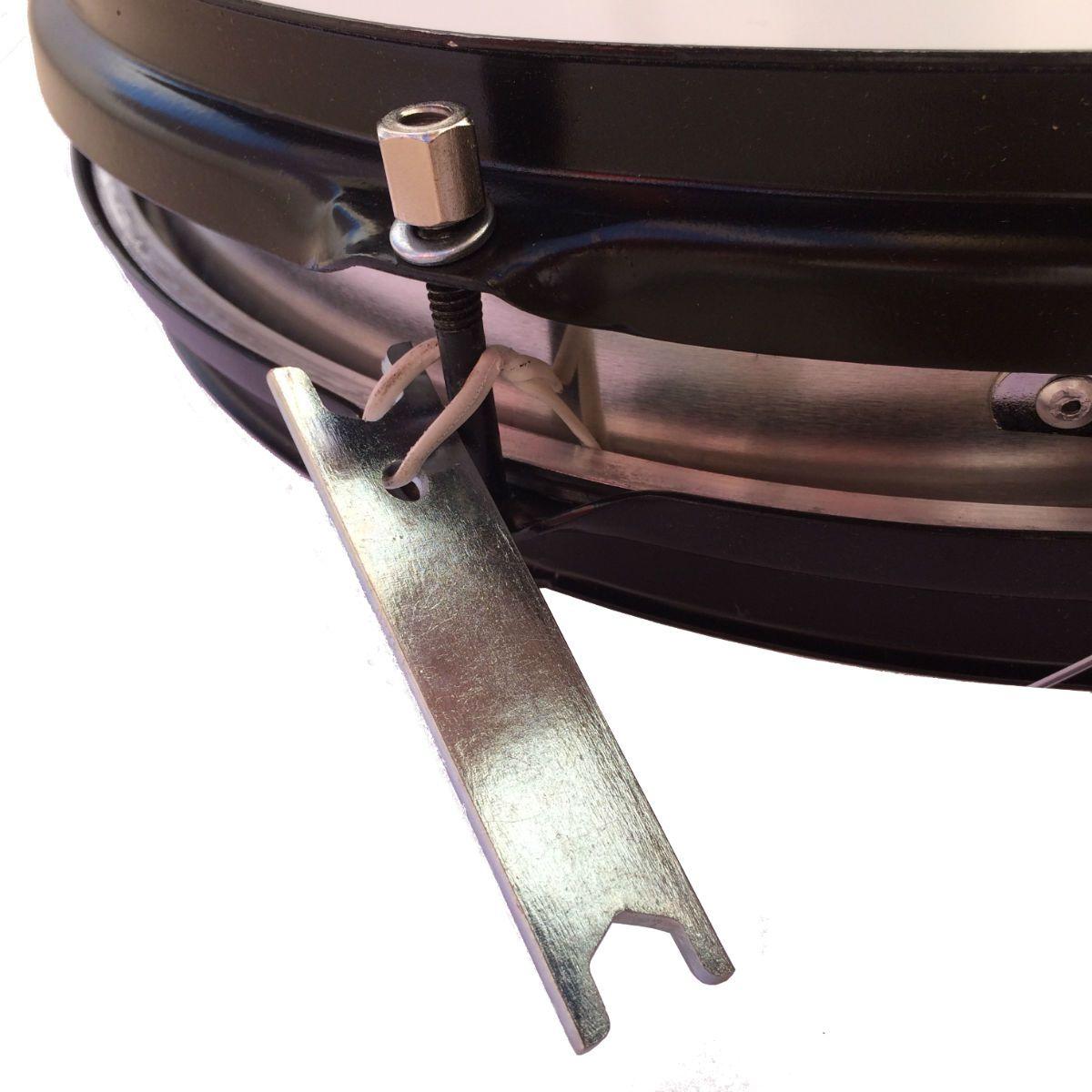 Caixa De Repique Samba Luen 14 X 3 Aluminio, com chapa PRETA e 6 afinações. Excelente instrumento.
