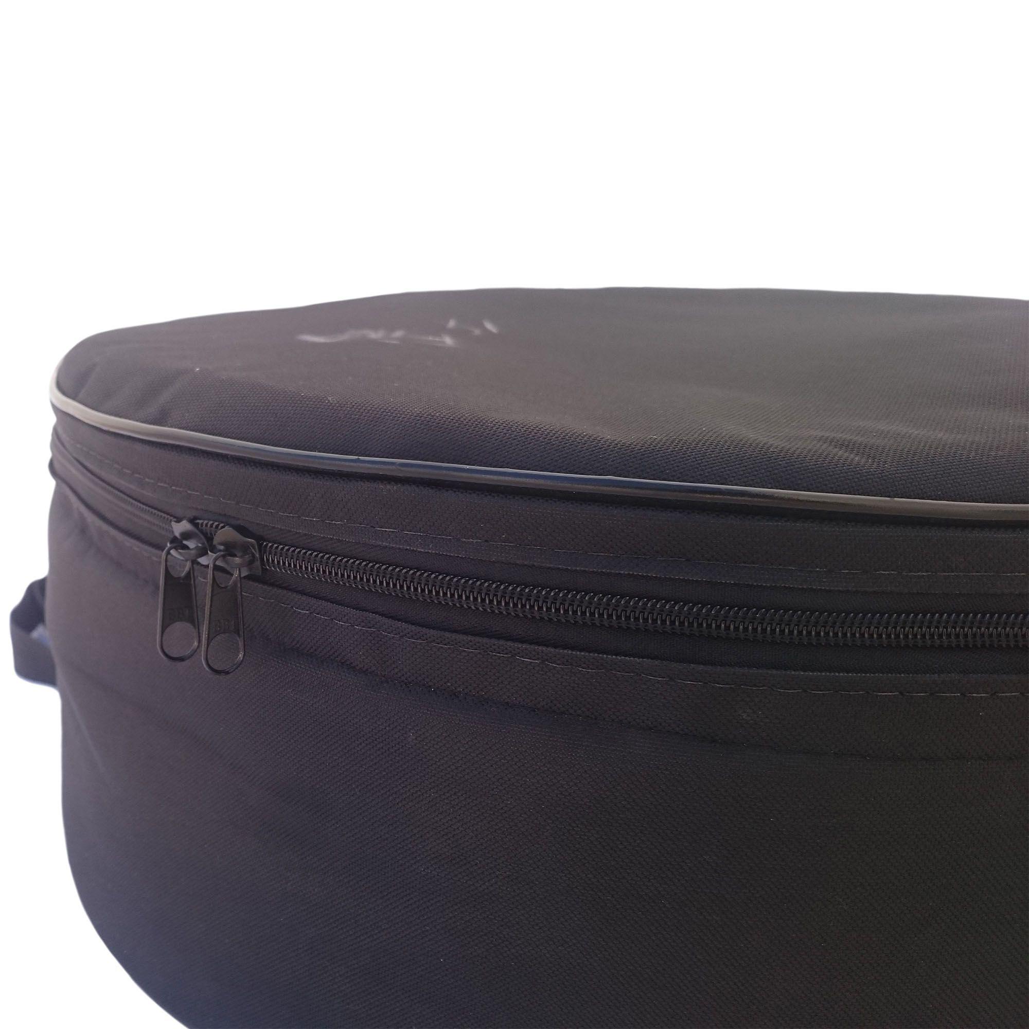 """Capa Bag Extra Luxo para Caixa De Bateria 14"""" x 12cm para Bateria CLAVE & BAG. Totalmente acolchoado"""