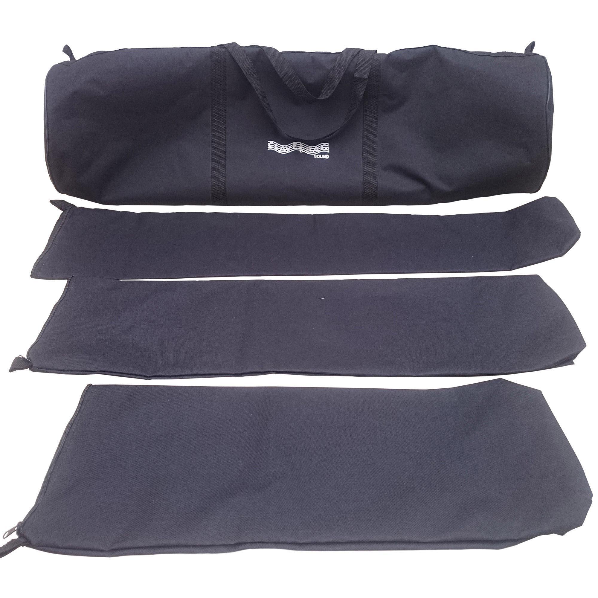 Capa Bag P/ Ferragens De Bateria Extra Luxo 4em1 Acolchoada