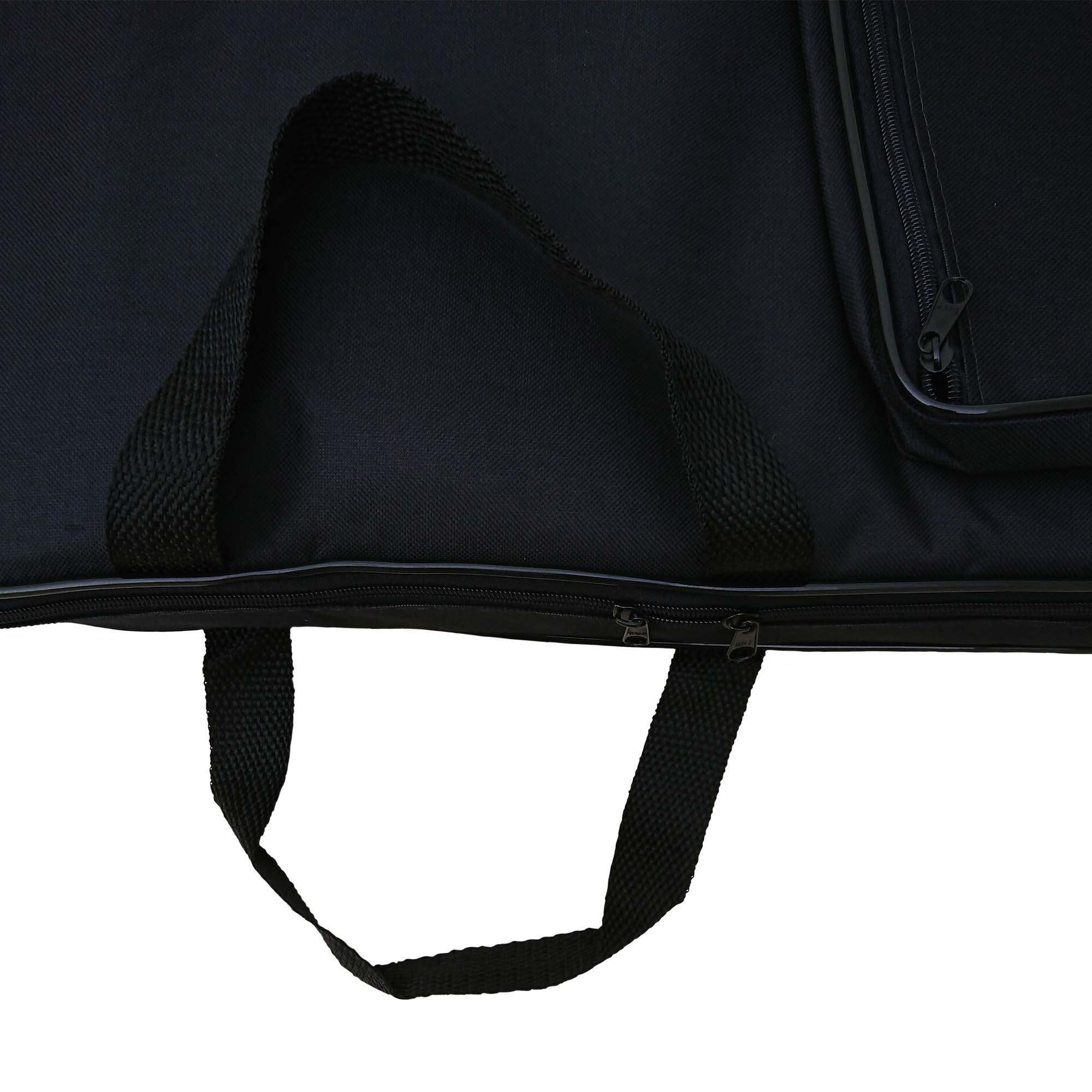Capa Bag Para Guitarra Luxo CLAVE & BAG. Acolchoada, alça de mão e de mochila. LU 507