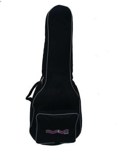 Capa Bag Para Violão Folk Semi Case Gold CLAVE & BAG. Totalmente acolchoada, alça de mão e de mochila. EX 503