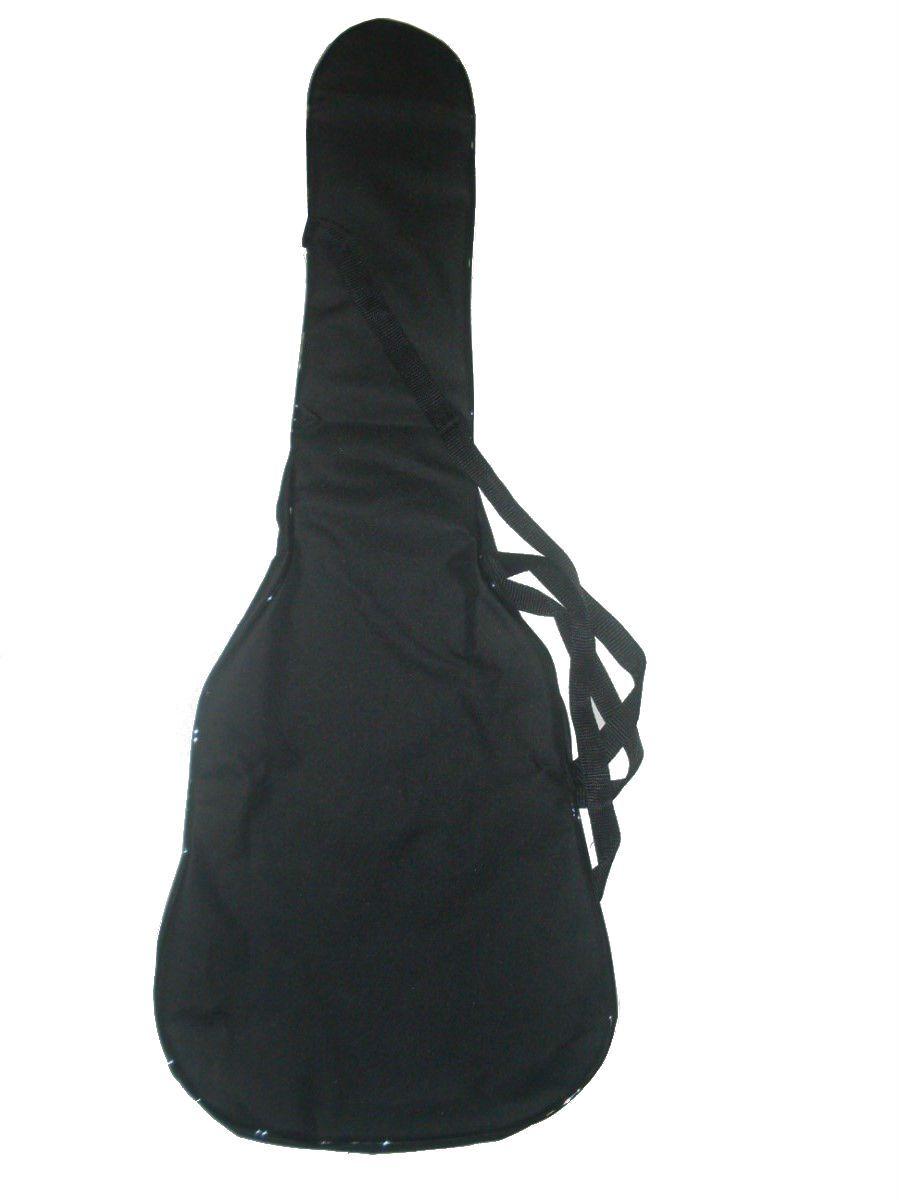 Capa Para Violão Folk Comum CLAVE & BAG. No formato do violão. Bolso, Alça de mão e tira-colo. CM503