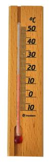 Termômetro ambiente com base em madeira  - Shopping Prosaúde