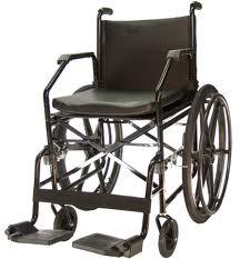 Cadeira de Rodas Aço Plus Courvim Preta 45 cm 1017  - BAXMANN E JAGUARIBE  - Shopping Prosaúde