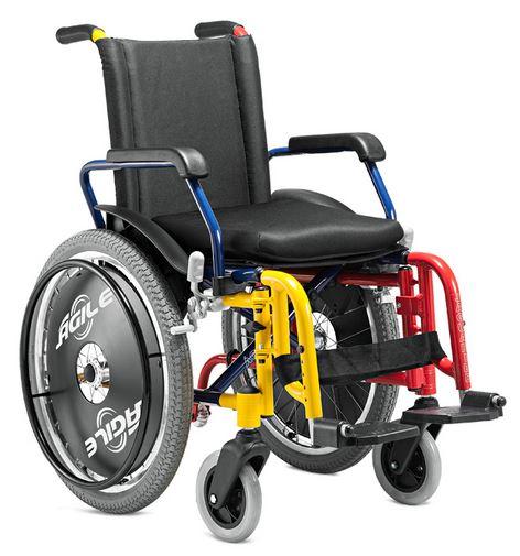 Cadeira de Rodas Alumínio Ágile Infantil  - BAXMANN E JAGUARIBE  - Shopping Prosaúde