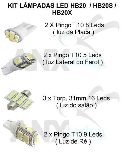 Kit Completo Lampadas Led P/ Hb20