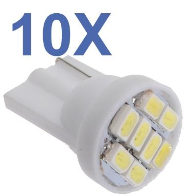 Kit 10 Lampadas Pingo T10 8 Leds Smd - Varias Cores