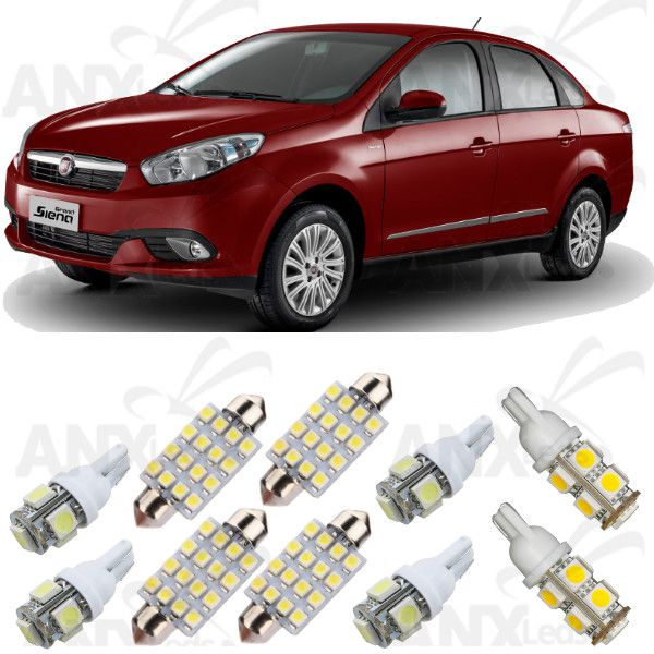 Kit Lampadas Led Fiat Grand Siena