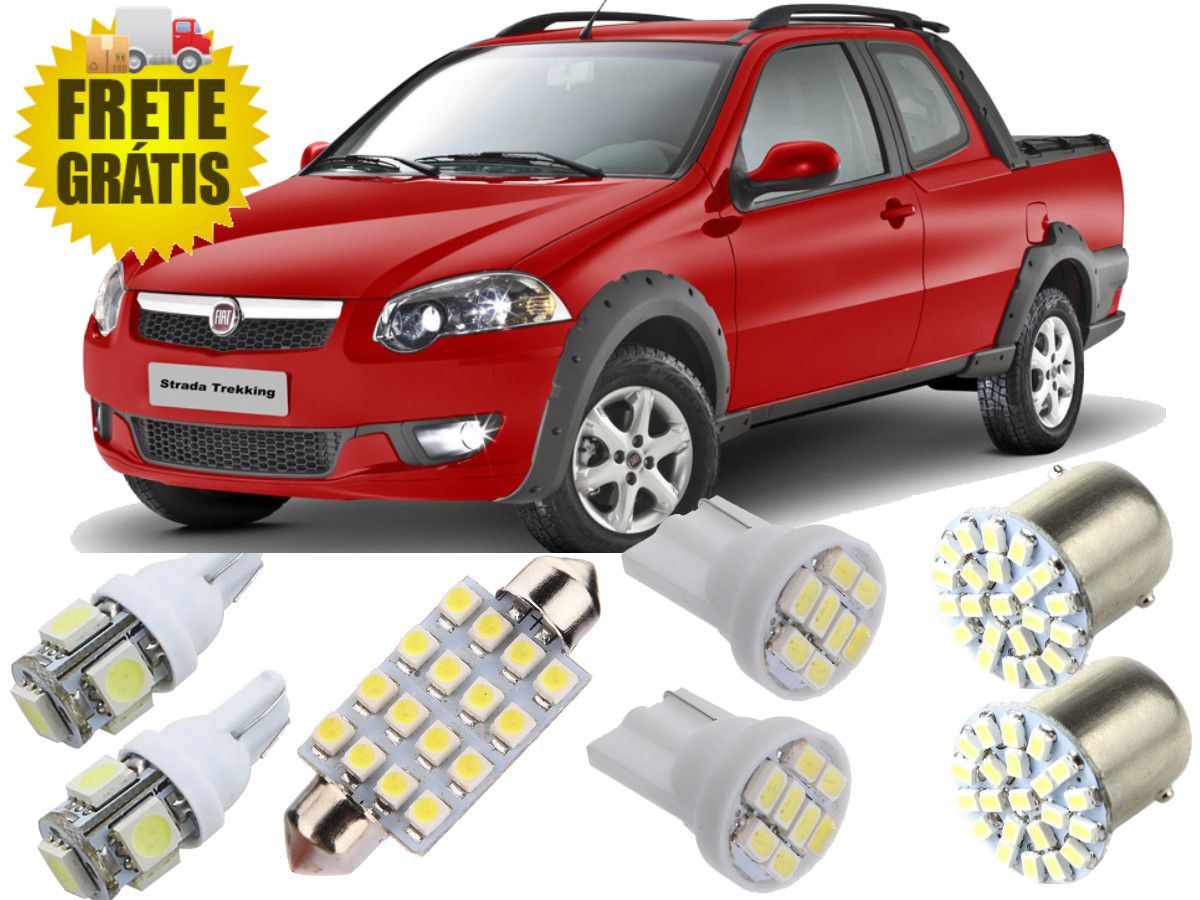 Kit Lampadas Led Fiat Strada 2007 / 2013