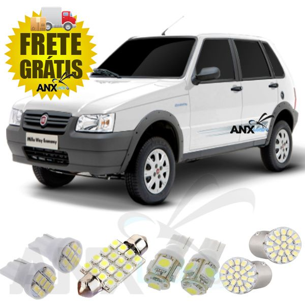 Kit Lampadas Led Fiat Uno Mille Way Fire Strada