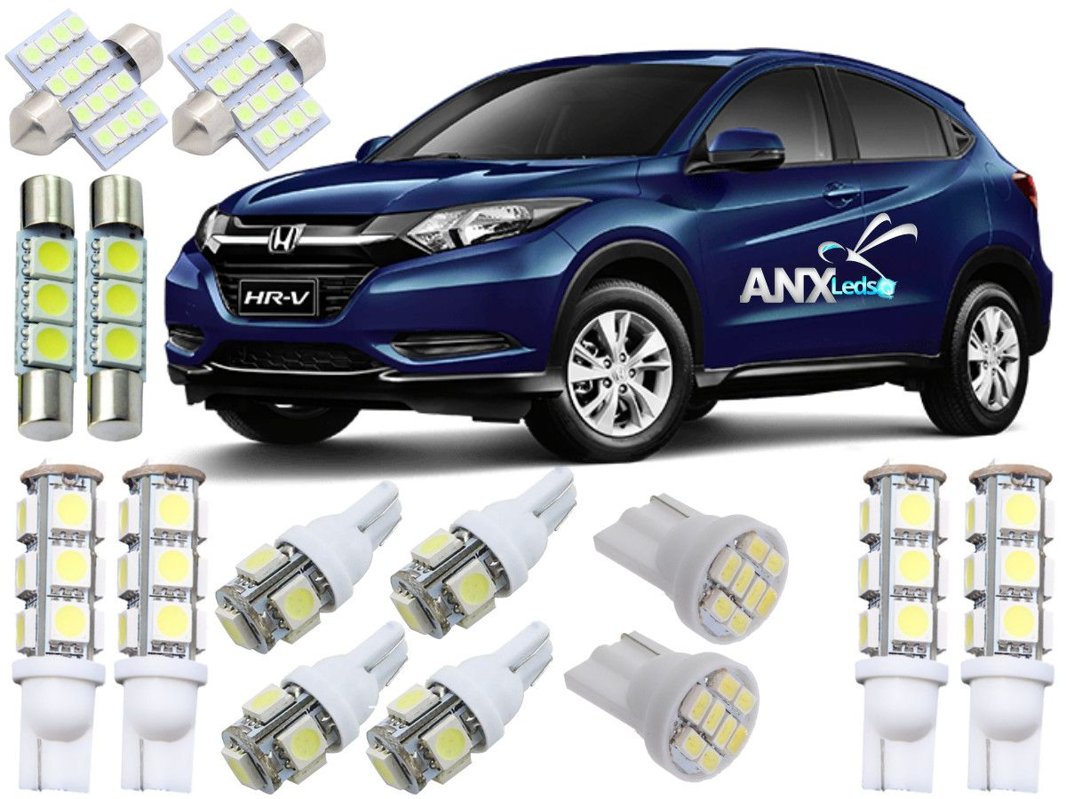 Kit Lampadas Led Honda Hrv 2015 / 2016 / 2017 / 2018 / 2019