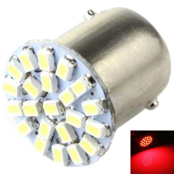 Lampada 1156 1 Polos 22 Leds Lateral E Freio - Vermelha