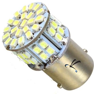 Lampada 1157 50 Leds Smd Branca 2 Polos - Freio e Lateral