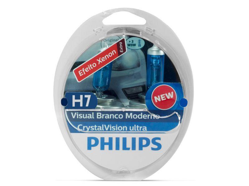 Lâmpada H7 55w Philips Cristal Vision Ultra - PAR