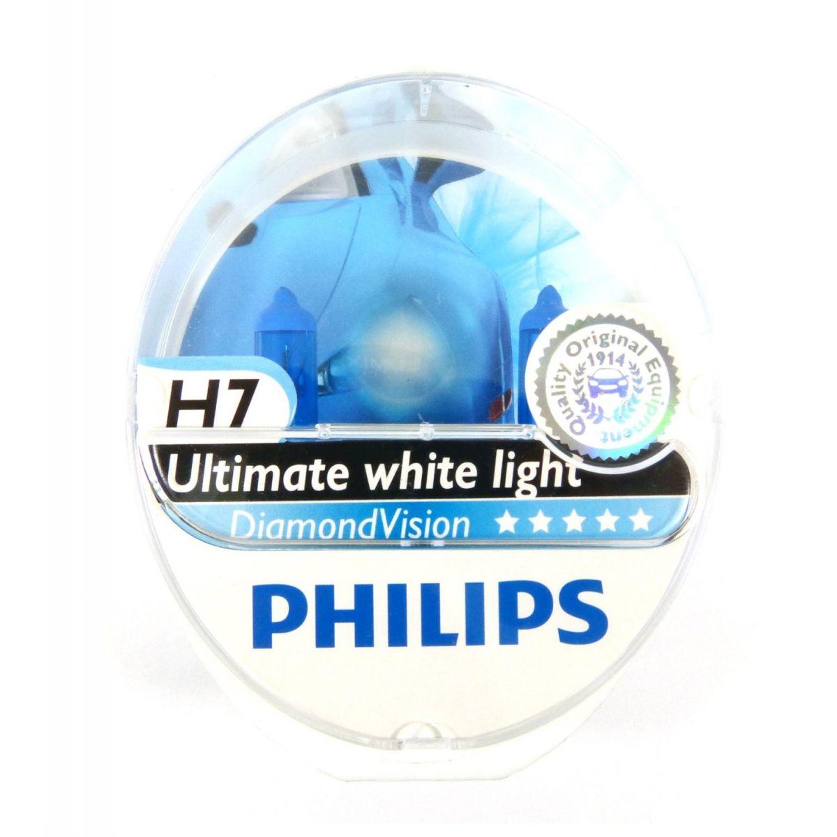 Lâmpada H7 55w Philips Diamond Vision 5000k - PAR
