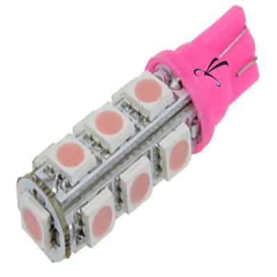 Lampada Pingo T10 13 Leds Smd Rosa 12v