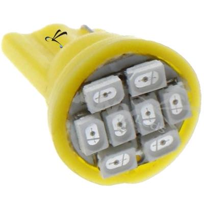 Lampada Pingo T10 8 Leds Smd Amarela 12v